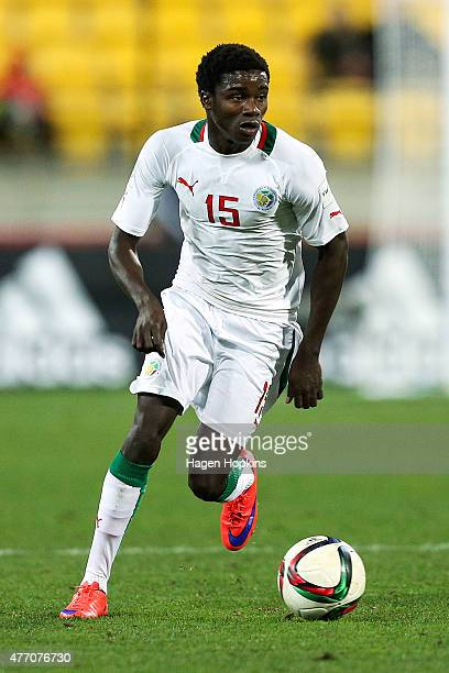 Moussa Wague of Senegal in action during the FIFA U20 World Cup New Zealand 2015 quarterfinal match between Senegal and Uzbekistan at Wellington...