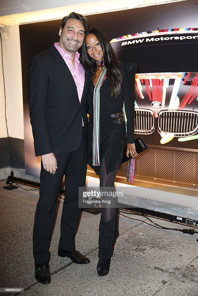 Mousse T.. and Sascha Forste attend the Dom Perignon Balloon Venus by Jeff Koons at Alsterhaus on November 02, 2013 in Hamburg, Germany.