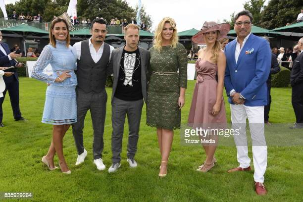 Mousse T AnneKathrin Ertl Angelina Kirsch Giovanni Zarrella his wife Jana Ina Zarrella and Oliver Pocher during the Audi Ascot Race Day 2017 on...