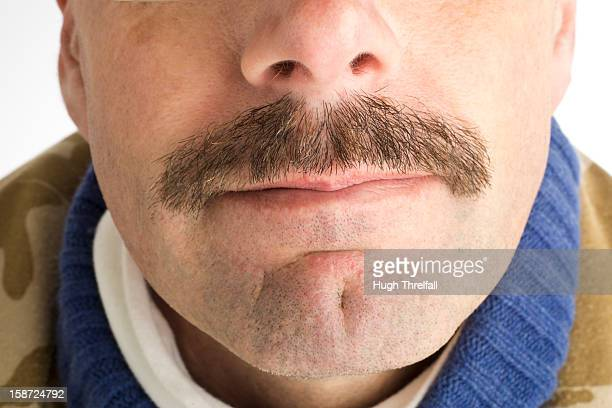 moustache, smiling middle aged man