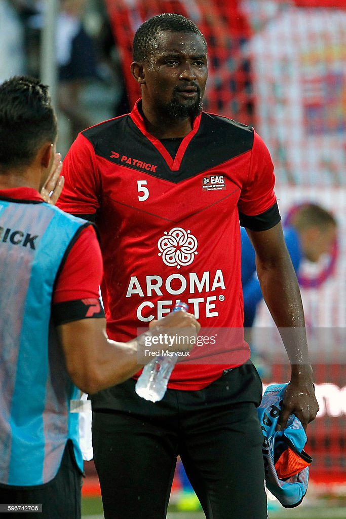 Moustapha Diallo of Guingamp during the French Ligue 1 between Nancy and Guingamp at Stade Marcel Picot on August 27 2016 in Nancy France