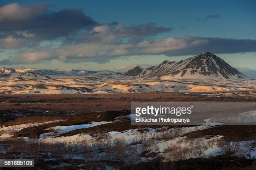 Moutain at Myvatn