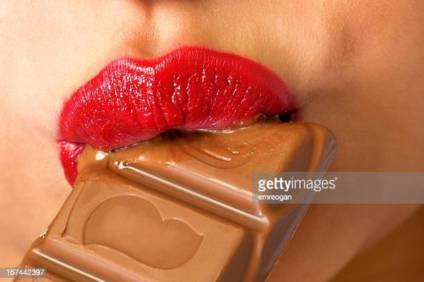 Mouth and chocolate
