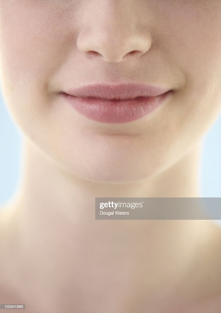 Mouth and nose close up.