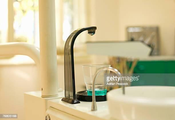 Mouthwash dispenser at a dentist office