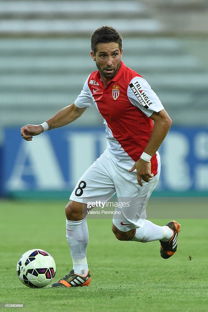 Moutinho of AS Monaco FC in action during the preseason friendly match between FC Parma and AS Monaco FC at Stadio Ennio Tardini on July 28 2014 in...