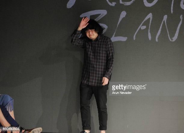 Mouton Blanc fashion designer Hakuyo Miya on the runway at 2017 Vancouver Fashion Week Day 3 on September 20 2017 in Vancouver Canada