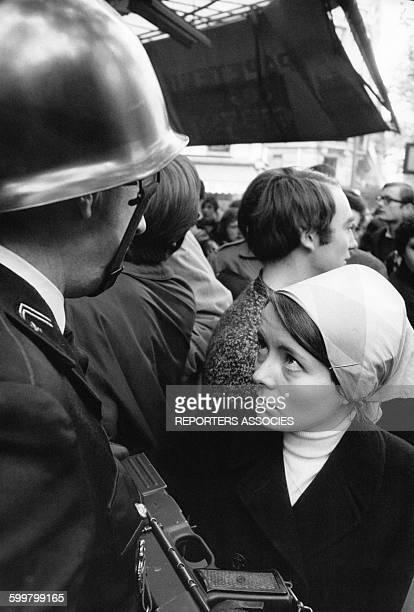 Mouvements et manifestations survenus en France durant les évènements de Mai 68 à Paris France en mai 1968
