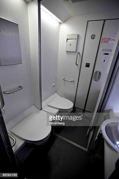 Handicap Bathroom Airplane airplane bathroom stock photos and pictures | getty images