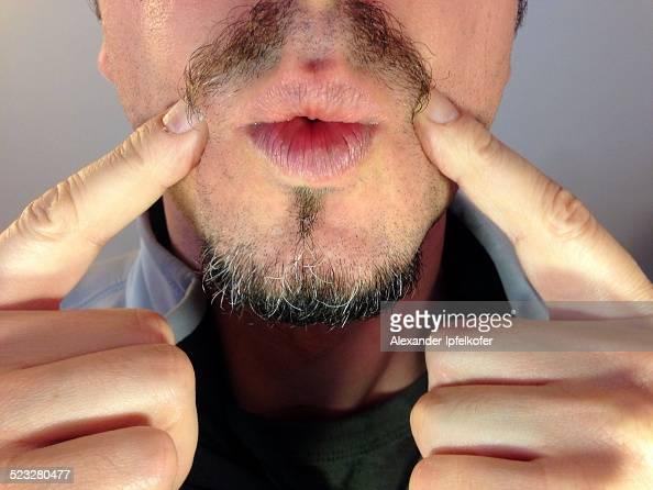 Movember Moustache selfie measuring with fingers Paris France November 10 2014
