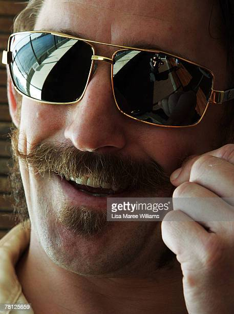 Movember supporter attends the Movember Gala night at Luna Park on November 28 2007 in Sydney Australia Movember is an annual charity challenge of...