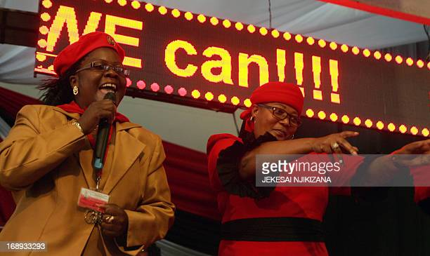 Movement for Democratic Change delegates including Vice President Thokosani Khupe dance on May 17 2013 at the official opening of the three day MDC...