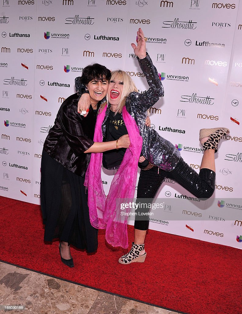 Moves publisher Moonah Ellison and designer Betsey Johnson attend the PowerWomen 2013 awards on November 14, 2013 in New York City.