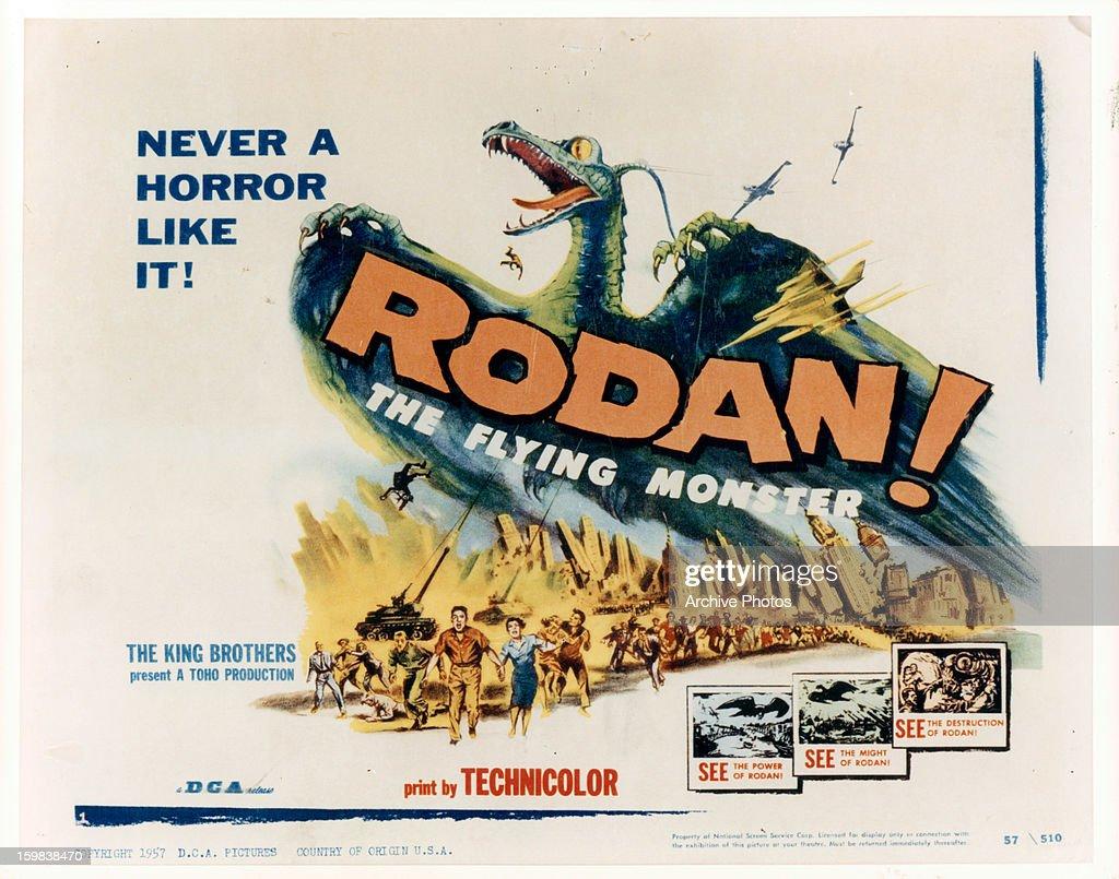 Movie art for the film 'Rodan' 1956