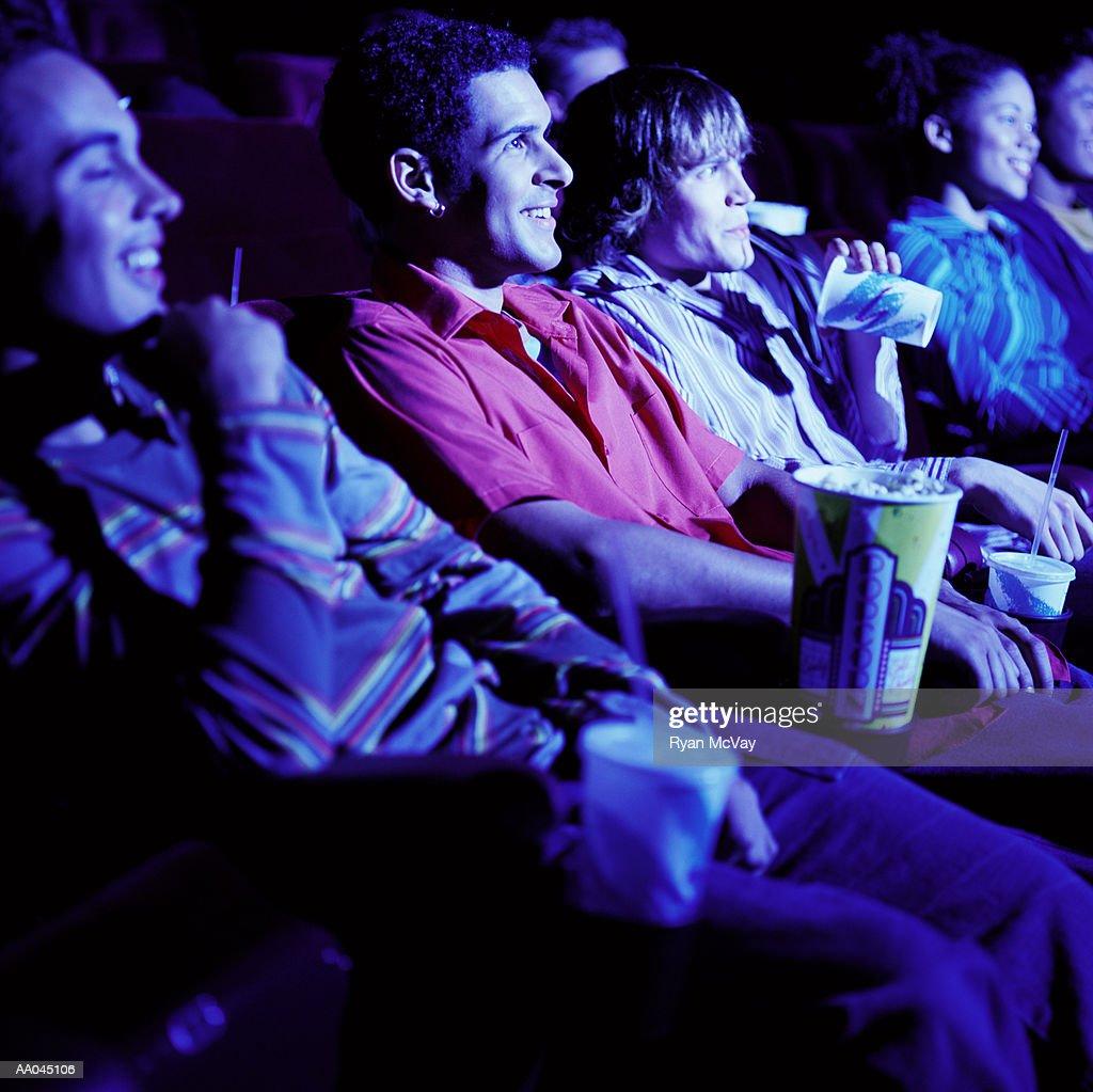 Movie audience : Stock Photo