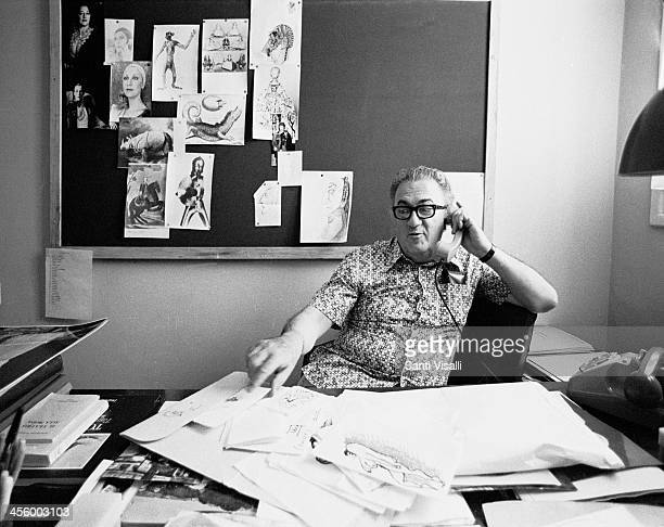 Movie Director Federico Fellini in his office on July 11 1975 in Rome Italy