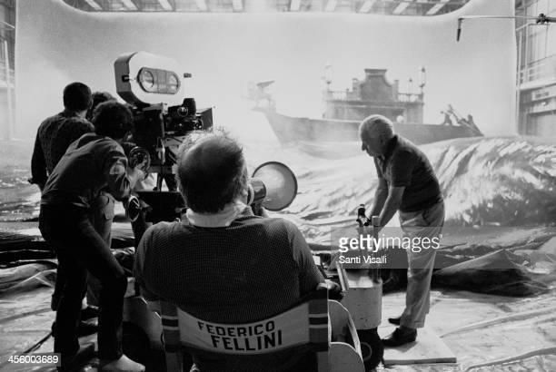 Movie Director Federico Fellini on the set of Casanova on July 10 1975 in Rome Italy