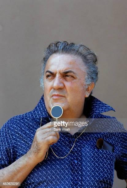Movie Director Federico Fellini on the set of Casanova on July 7 1975 in Rome Italy