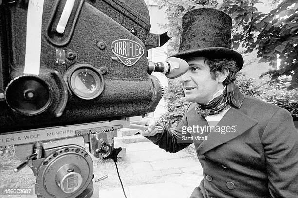 Movie Director Francois Truffaut filming The Wild Child on August 15 1969 in Paris France