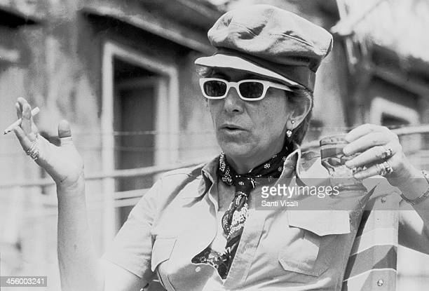 Movie Director Lina Wertmuller on the set of Pasqualino on August 12 1975 in Naples Italy