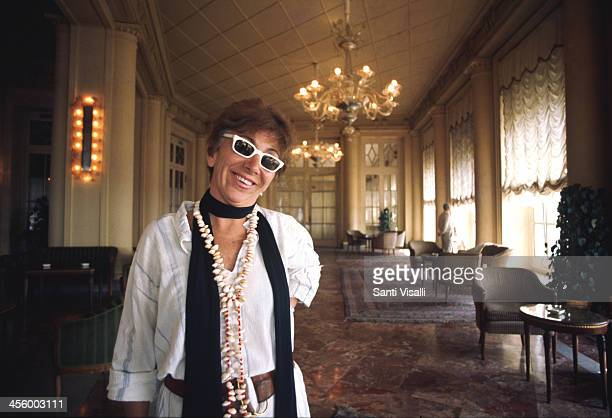 Movie Director Lina Wertmuller posing for a portrait August 5 1975 in Naples Italy
