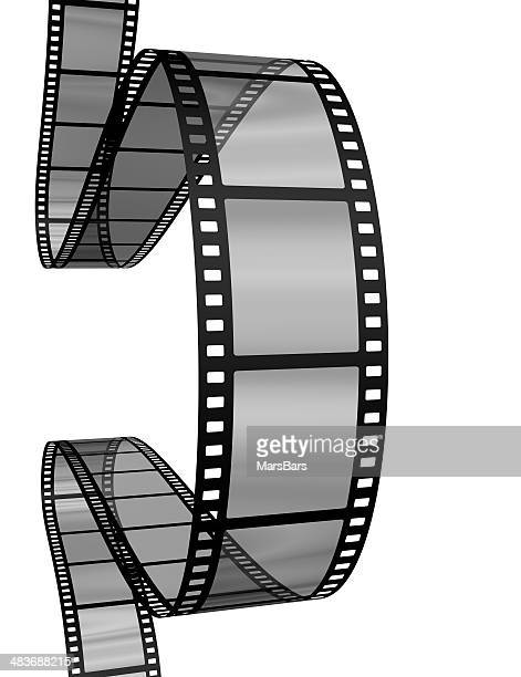 Movie filmstrip border on white background