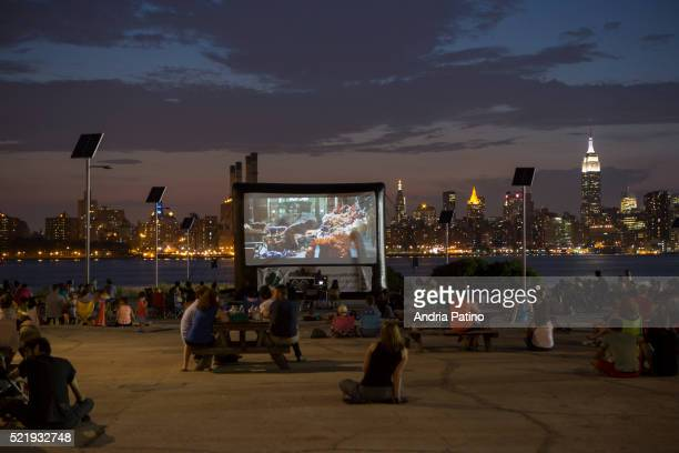 Movie night at the East River State Park