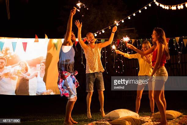Spielfilm-Nacht-party.