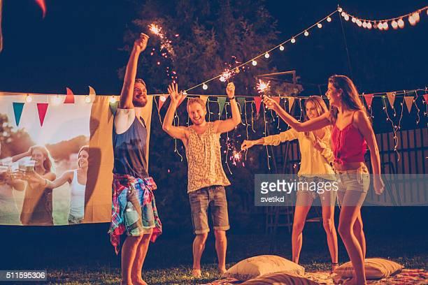 Filme de noite com os seus amigos