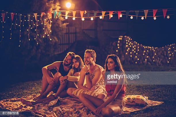 Filmnacht mit Freunden