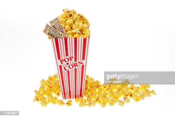 Film Popcorn mit tickets Weitwinkel