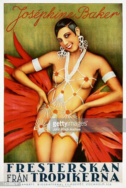 Movie poster advertises the Swedish release of 'Siren of the Tropics' starring Josephine Baker 1927