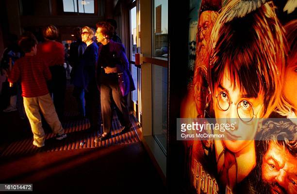 A movie poster announcing Harry Potter and the Sorcerer's Stone is now showing at United Artists Continental 6 Theatres at Hamden and I25 today...