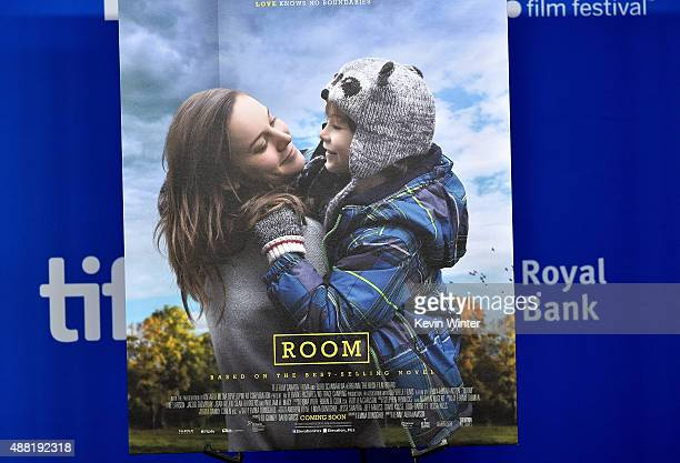Movie poster displayed during the 'Room' press conference at the 2015 Toronto International Film Festival at TIFF Bell Lightbox on September 14 2015...