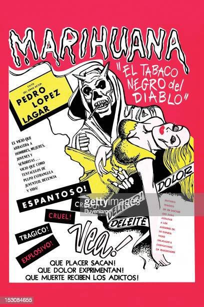 A movie poster 'El Tobaco Negro del Diablo' from Argentina for a Spanish film about a respected surgeon Pablo Urioste is forced to experience a...