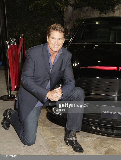 'KNIGHT RIDER' Movie Premiere Party Pictured Actor David Hasselhoff attends the 'Knight Rider' premiere party held at the Playboy Mansion in Los...