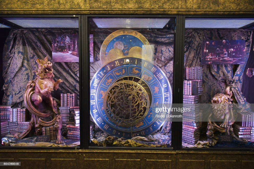 Movie props on display at opening night of Disney's 'Beauty And The Beast' at El Capitan Theatre on March 16, 2017 in Los Angeles, California.