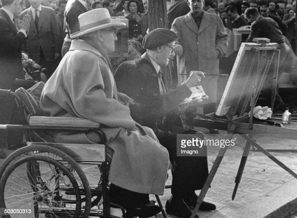 Movie recording of Si Paris nous était conté French director and actor Sacha Guitry considers the painting of Maurice Utrillo in a movie scene...