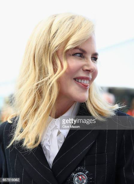 Movie star Nicole Kidman in the Paddock during final practice for the Australian Formula One Grand Prix at Albert Park on March 25 2017 in Melbourne...