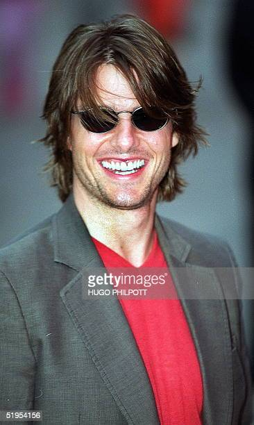 Movie star Tom Cruise arrives for the premiere of his latest film Mission Impossible 2 at the Empire Leicester Square London 04 June 2000 The movie...