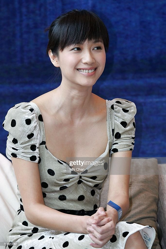 Movie star Xu Jinglei attends a press conference and photocall to promote the new movie titled 'Confession of Pain' on July 9 2006 in Hong Kong China
