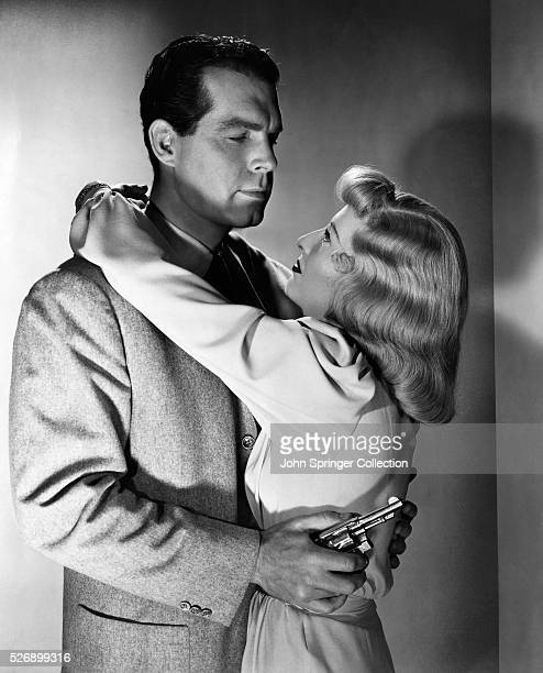Movie still from 'Double Indemnity' with Barbara Stanwyck and Fred MacMurray 1943 Copyright 1943 Paramount Pictures Inc Permission granted for...