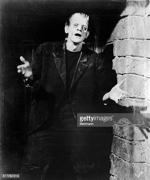 Movie Still from Frankenstein Boris Karloff is shown in character as Frankenstein's monster in this photo placed in files in 1967 Karloff a...