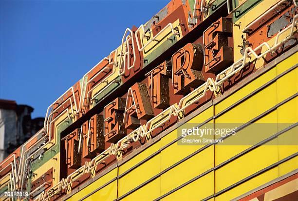 Movie theatre marquee, San Diego, California