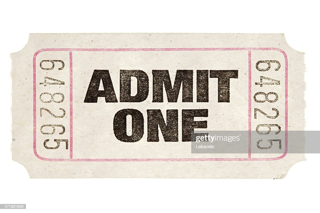 Movie Ticket : Stock Photo