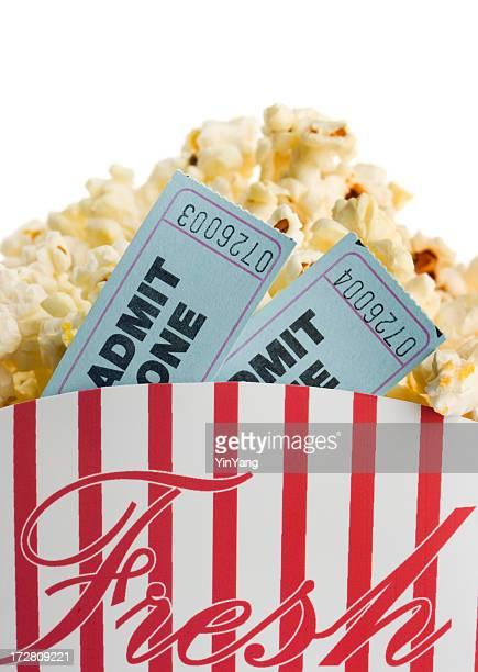Film Konfettischnipseln verziert und Popcorn Snack für das Nachtleben und die Unterhaltung Datum