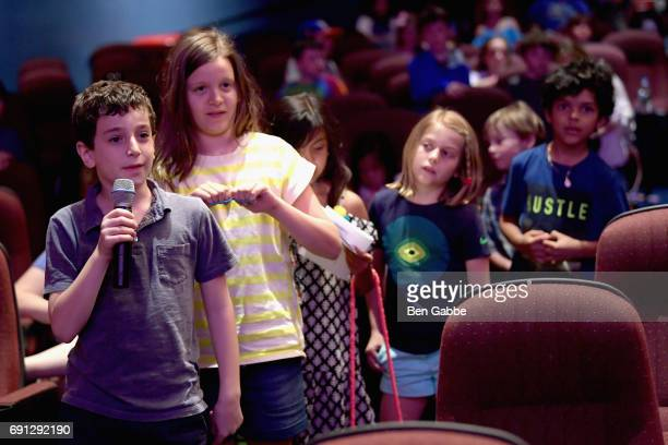 Moviegoers ask questions to author Dav Pilkey after the screening of Captain Underpants during Greenwich International Film Festival Day 1 on June 1...