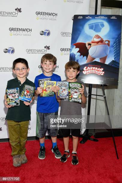 Moviegoers attend the screening of Captain Underpants during Greenwich International Film Festival Day 1 on June 1 2017 in Greenwich Connecticut