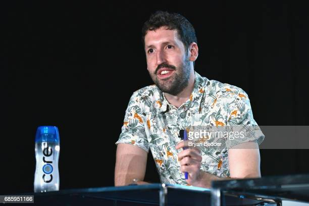 Movies Editor at Vulture Nate Jones speaks onstage during Saturday Morning Cartoons in the ATT Studio at the 2017 Vulture Festival at Milk Studios on...