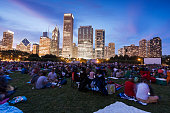 Movies in the park in Chicago